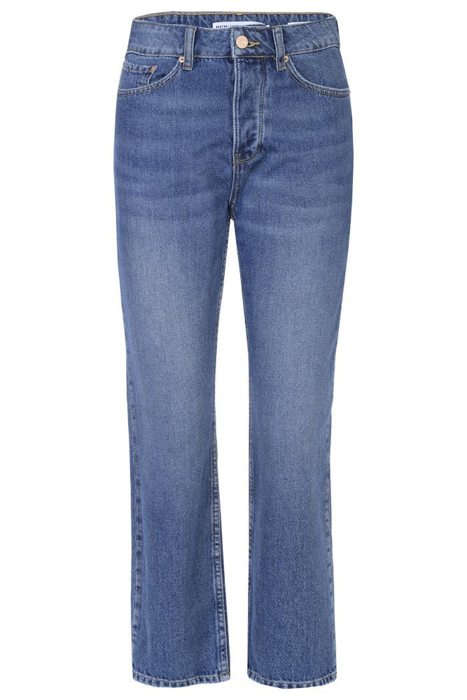 Reiko Milo Mid Blue High Waisted Jeans made in 100% Cotton at The Bias Cut