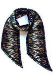 Tiger Silk Neck Scarf Burnt Orange - Ingmarson
