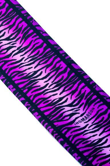Tiger Silk Neck Scarf Long Magenta - Ingmarson at The Bias Cut
