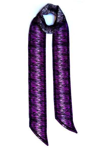 Load image into Gallery viewer, Tiger Silk Neck Scarf Long Magenta - Ingmarson at The Bias Cut