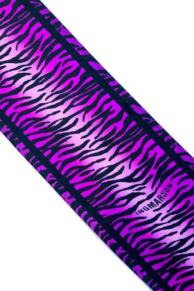 Tiger Silk Neck Scarf Magenta - Ingmarson at The Bias Cut