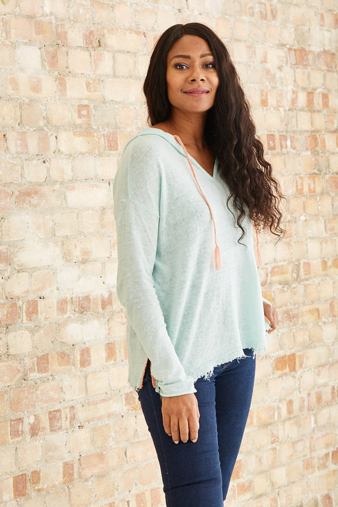 Tulum Linen Hoodie - Lisa Todd at The Bias Cut