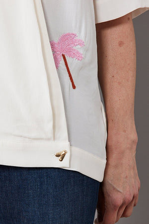 Vera Feather Palm Embroidered Top - Fabienne Chapot at The Bias Cut