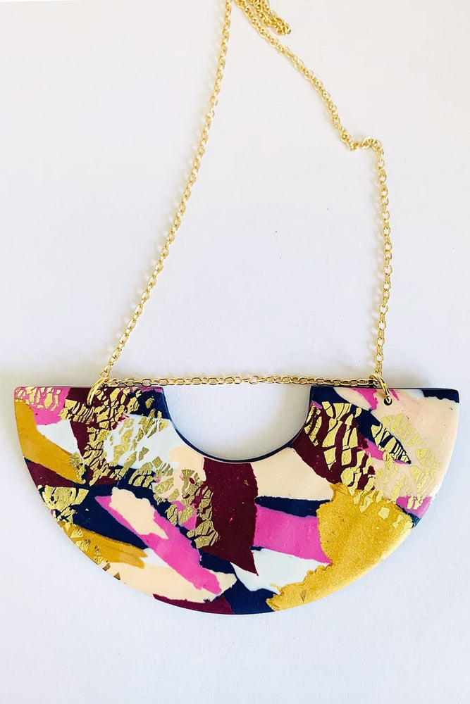 Winter Sunrise Statement Necklace
