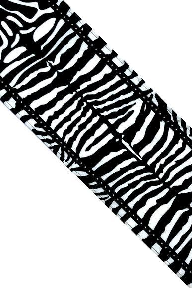 Zebra Silk Neck Scarf Black & White - Ingmarson at The Bias Cut