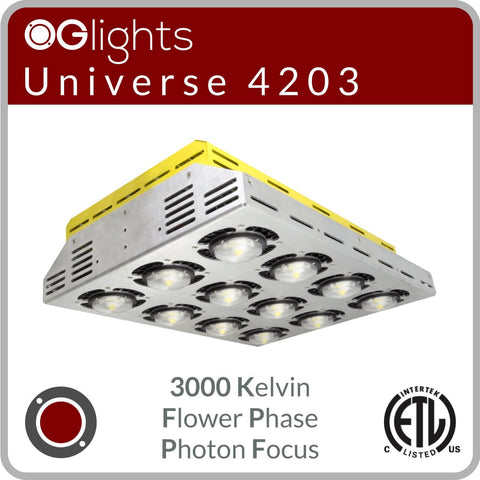 OGlights Universe 4203-3000K-FP-PF LED Grow Light
