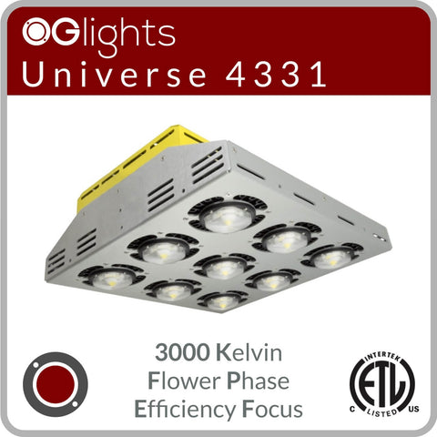 OGlights Universe 4331-3000K-FP-EF LED Grow Light