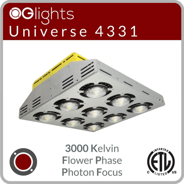 OGlights Universe 4331-3000K-FP-PF LED Grow Light