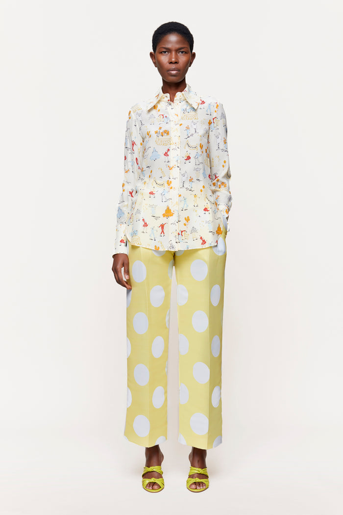 Stine Goya Chet Showpiece Pants Pants 1028 Dots Cream