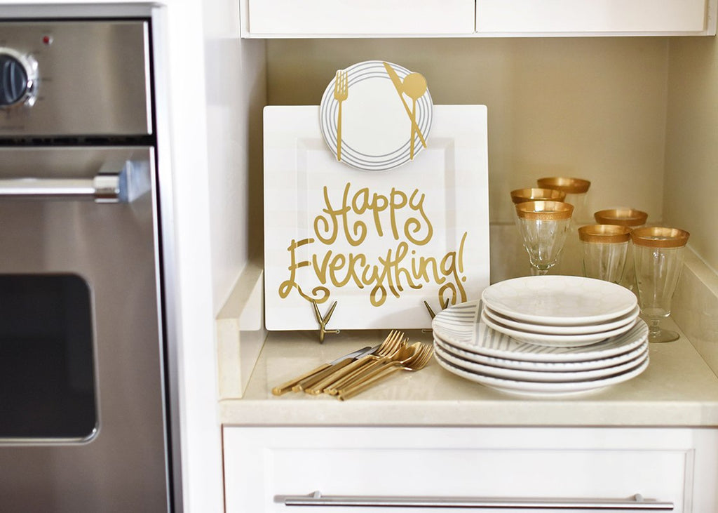 Happy Everything Large Square Platters