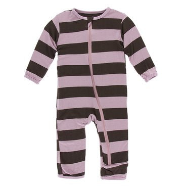 Kickee Pants Flora Stripe Coverall