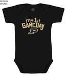 Purdue Kids Black Body Suit
