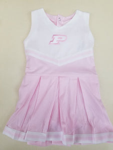 Purdue Toddler Pink Body Suit Cheer Dress