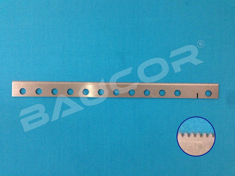 200mm Long Straight Perforating / Chop Off Knife Blade - Part Number 61305