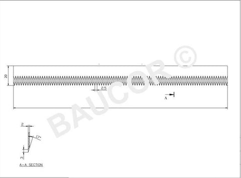 Flat / Straight Packaging Cut-Off Knife Blade - Part Number 5101