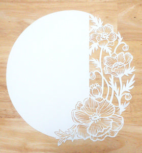 Original Papercut with Custom text - Anemones - Handcut Paper art