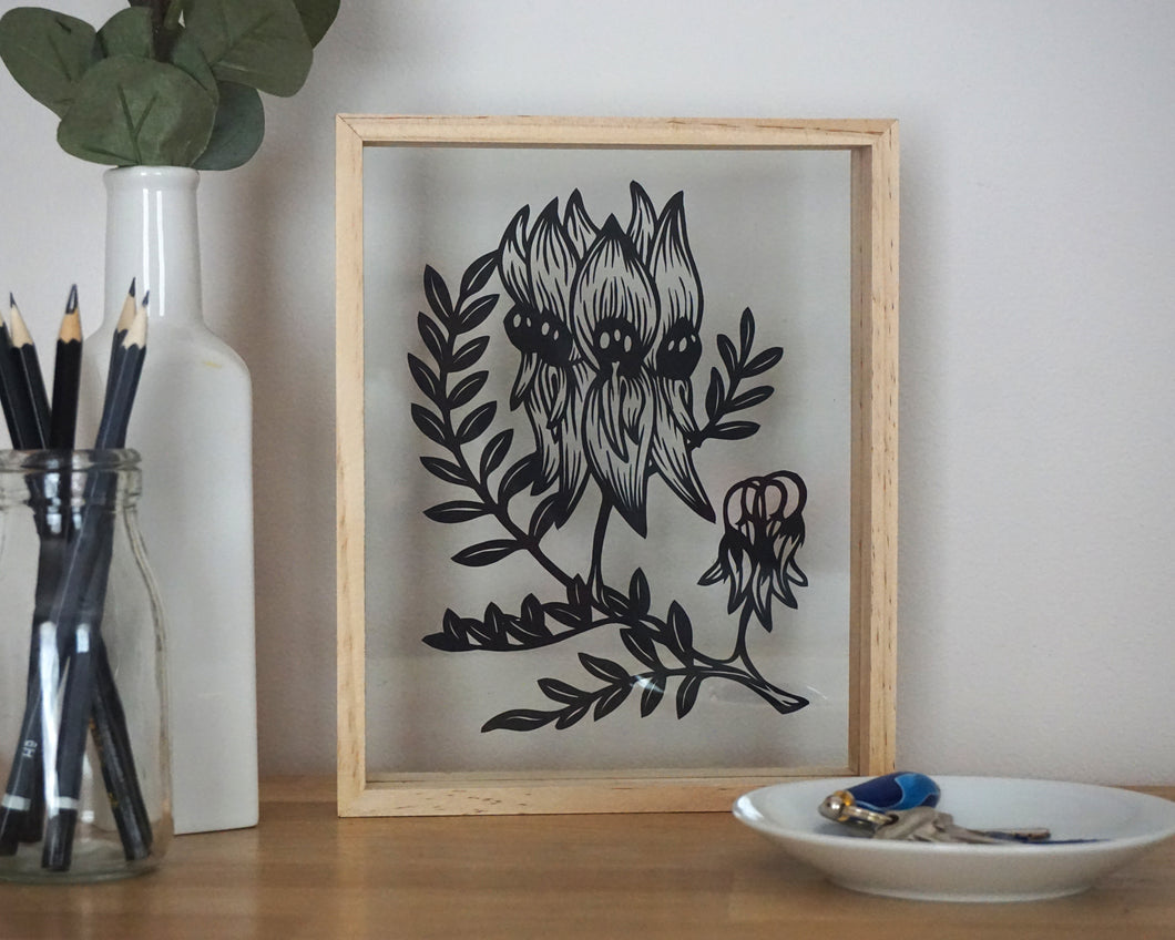 Sturt Desert Pea - Medium Framed Artwork