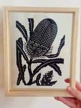 Banksia Flower - Medium Framed Original