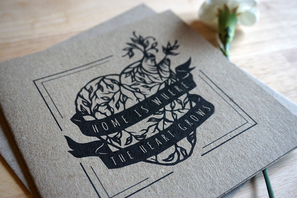 Home is where the heart grows - Recycled kraft brown