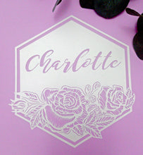Personalised Name - Roses - Original Handcut