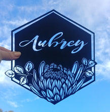 Personalised Name - King Protea - Original Handcut