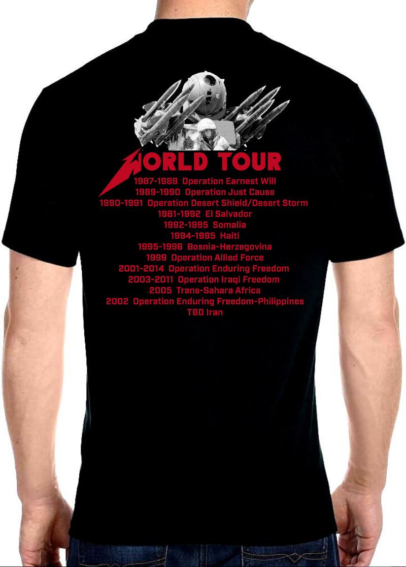 USSOCOM World Tour Tee T-Shirts SOFREP Premium Men's Tee Black XS
