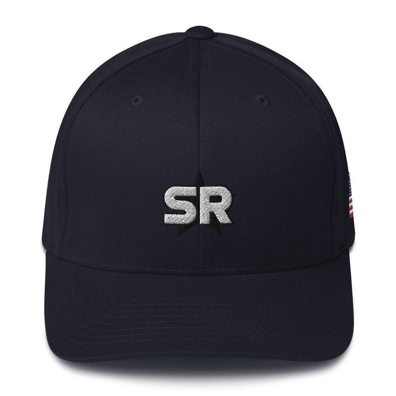 SR Star Logo - Structured Twill Cap Hats SOFREP Store Black S/M