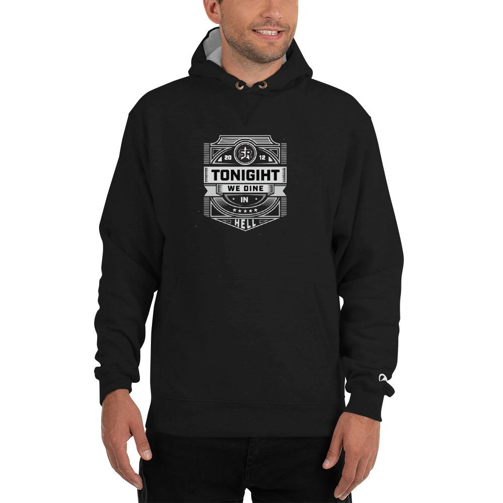 Tonight We Dine in Hell - Champion Hoodie Hoodies SOFREP Store S