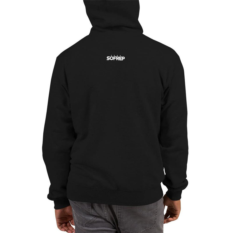 Out here due process is a bullet - Champion Hoodie SOFREP Store S