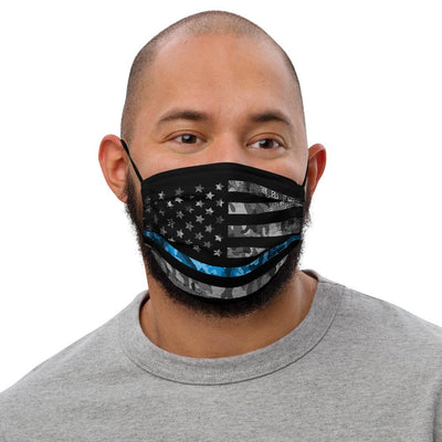 Reusable Face mask - American Flag with Thin Blue Line Face Masks The Loadout Room