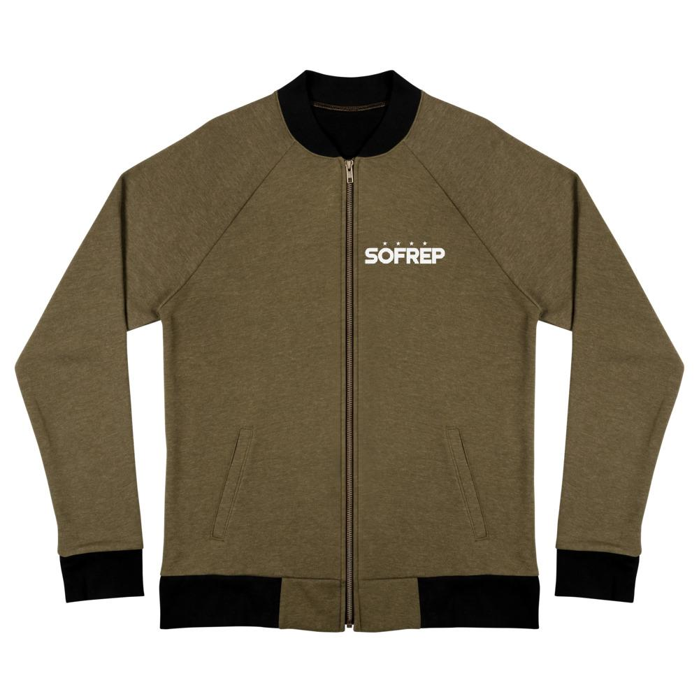 SOFREP Bomber Jacket Bomber Jackets The Loadout Room Heather Military Green S