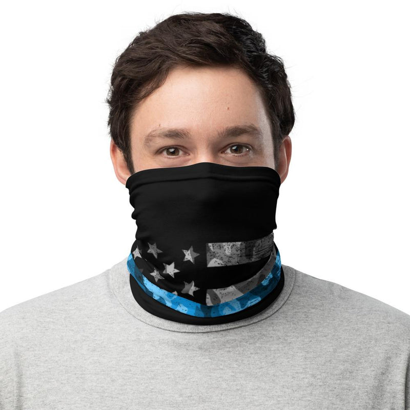 Neck Gaiter - American Flag with Thin Blue Line The Loadout Room