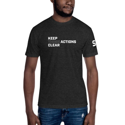Keep Those Actions Clear - Unisex Crew Neck Tee T-Shirts SOFREP Store Heather Black S