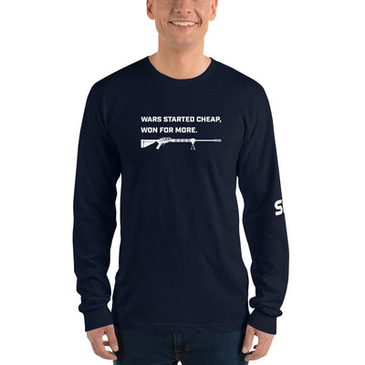 Wars started cheap, won for more - Long sleeve t-shirt SOFREP Store Navy S