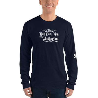 The Only Easy Day was Yesterday - Long sleeve t-shirt SOFREP Store Navy S