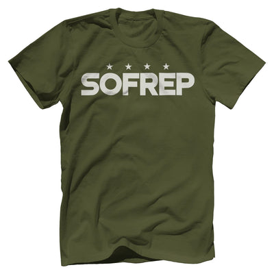 "SOFREP ""4-Star Front and Center"" Tee T-Shirts SOFREP Premium Men's Tee Military Green XS"