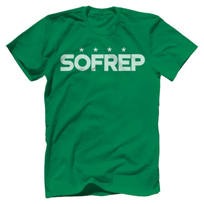 "SOFREP ""4-Star Front and Center"" Tee T-Shirts SOFREP Premium Men's Tee Kelly Green XS"