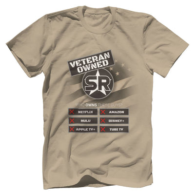 "SOFREP ""Veteran Owned"" Tee T-Shirts SOFREP Premium Men's Tee Sand XS"