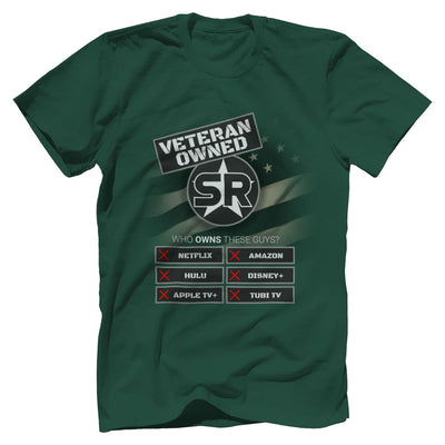 "SOFREP ""Veteran Owned"" Tee T-Shirts SOFREP Premium Men's Tee Forest Green XS"