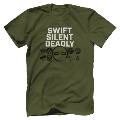 Swift Silent Deadly Tee T-Shirts SOFREP Premium Men's Tee Military Green XS