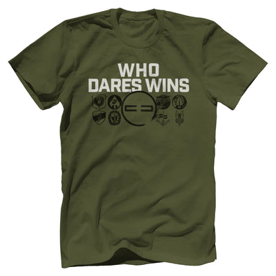 Who Dares Wins Tee T-Shirts SOFREP Premium Men's Tee Military Green XS