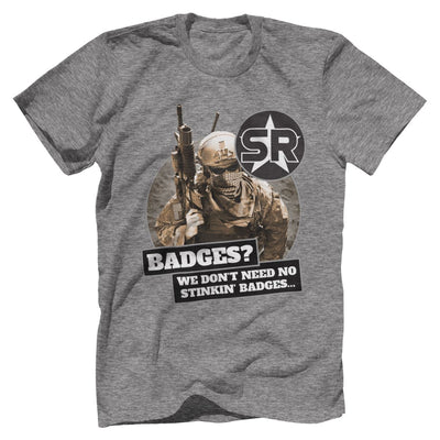 "SOFREP ""Badges"" Tee T-Shirts Print Brains Premium Men's Tee Heather Gray XS"