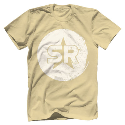 "SR ""Circle Front and Center"" Tee T-Shirts SOFREP Premium Men's Tee Light Yellow XS"