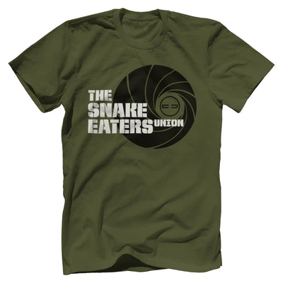 Double Tap Premium Tee - Snake Eaters Union T-Shirt T-Shirts Print Brains Premium Men's Tee Military Green XS
