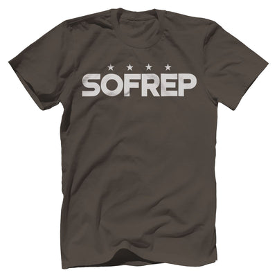 "SOFREP ""4-Star Front and Center"" Tee T-Shirts SOFREP Premium Men's Tee Warm Gray XS"