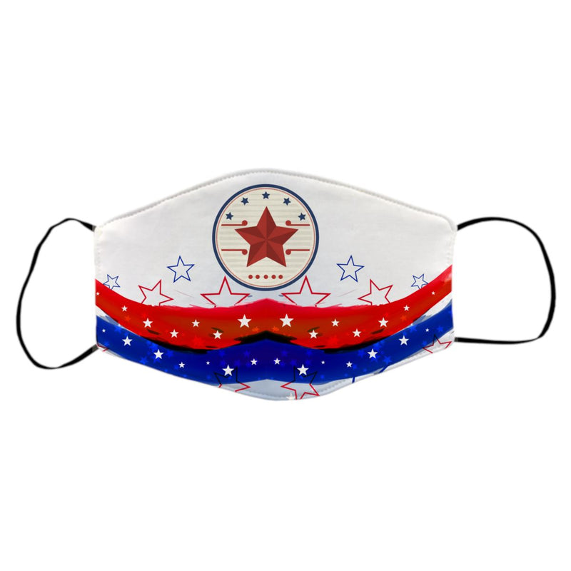 Reusable Face Mask - Fourth of July Stars and Stripes Protective Masks Print Brains Stars and Stripes
