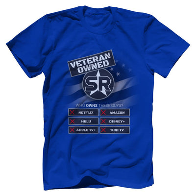 "SOFREP ""Veteran Owned"" Tee T-Shirts SOFREP Premium Men's Tee Royal Blue XS"