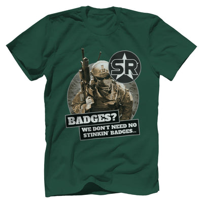 "SOFREP ""Badges"" Tee T-Shirts Print Brains Premium Men's Tee Forest Green XS"