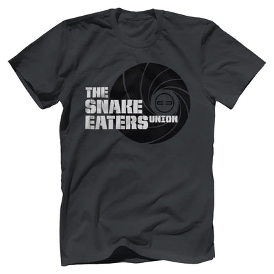 Double Tap Premium Tee - Snake Eaters Union T-Shirt T-Shirts Print Brains Premium Men's Tee Dark Gray XS