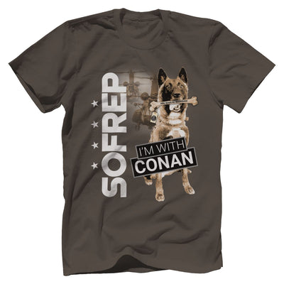 I'm With Conan 2 Tee Apparel Print Brains Premium Men's Tee Warm Gray XS